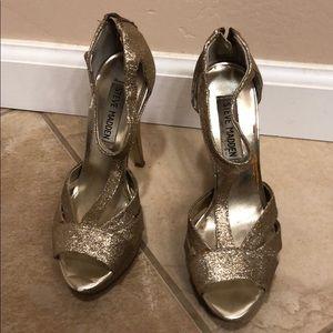 Sparkly gold Steve Madden heels size 5